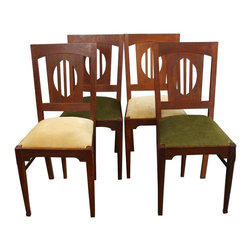 EuroLux Home - 4 Art Deco Dining Chairs 1930 France - Product Details