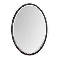 Uttermost - Uttermost Casalina Oil Rubbed Bronze Oval Mirror 01116 - Oil rubbed bronze finish with twisted metal rope detail. Mirror is beveled.