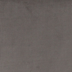 Grey Corduroy Thin Stripe Upholstery Velvet Fabric By The Yard - This upholstery velvet is woven in a corduroy pattern. It is very durable, and is great for all indoor upholstery and fabric related uses.