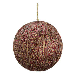 Silk Plants Direct - Silk Plants Direct Metallic Yarn Ball Ornament (Pack of 4) - Burgundy - Silk Plants Direct specializes in manufacturing, design and supply of the most life-like, premium quality artificial plants, trees, flowers, arrangements, topiaries and containers for home, office and commercial use. Our Metallic Yarn Ball Ornament includes the following: