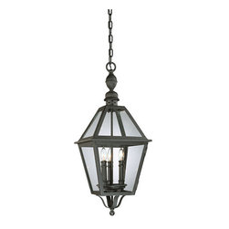"""Troy Lighting - Troy Lighting F9627 Townsend 3 Light Outdoor Lantern Pendant - *Metalwork: Hand-Worked Wrought IronGlassware: ClearAvailable With Fluorescent Option.3 - 60W Candelabra Base (Not Included)11""""W 28""""HChain Hung Fixtures come with 4 Feet of Chain and 10 Feet of Wire"""