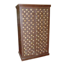Brass Cladded Armoire - Old door teak wood armoire rustic ...