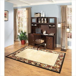 Kathy Ireland by Bush Grand Expressions Home Office Set with 2 Drawer Mobile Fil