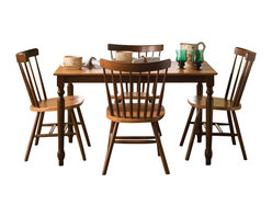 International Concepts - International Concepts 5 Piece Copenhagen Dinner Set Cinnamon/Espresso - International Concepts - Dining Sets - K583048C3854 - This 5 piece Dining set is made of solid wood and will last you a very long time. Not only is it durable, it is also beautiful and will enhance your decor whether you live in a house or a condo.