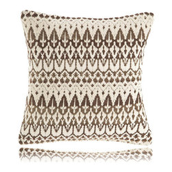 Pine Cone Hill - ila chocolate pillow (18x18) - Designed in the Berkshires of Massachusetts, every item from the pine cone hill bedding collection has been tailored from high quality imported textiles in a variety of versatile neutrals, vibrant hues and engaging patterns. Choose from textiles that weave a complementary theme throughout your entire bedroom and beyond. Many patterns and colors are available in blankets, duvets. throws, decorative pillows, shams and bed skirts.