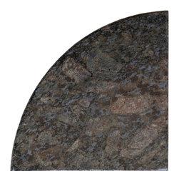 Black Butterfly Granite Corner Shelf - Size: 9''x9''