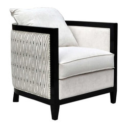 Unknown - Art Deco Chevron Velour Tub Chair - Available at Chairish.com - a fabulous online consignment marketplace for design-obsessed people to buy and sell exceptional pre-owned home furnishings. Find one-of-a-kind pieces at great deals.