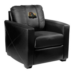 Dreamseat Inc. - Turkey Xcalibur Leather Arm Chair - Check out this incredible Arm Chair. It's the ultimate in modern styled home leather furniture, and it's one of the coolest things we've ever seen. This is unbelievably comfortable - once you're in it, you won't want to get up. Features a zip-in-zip-out logo panel embroidered with 70,000 stitches. Converts from a solid color to custom-logo furniture in seconds - perfect for a shared or multi-purpose room. Root for several teams? Simply swap the panels out when the seasons change. This is a true statement piece that is perfect for your Man Cave, Game Room, basement or garage.