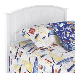 Fashion Bed - Fashion Bed Finley Wood Headboard in White Finish-Twin - Fashion Bed - Headboards - 51C543 - Complete the look of your cottage-inspired bedroom decor with this affordable Finley Wood Headboard from the Fashion Bed Group. Available in twin or full/queen sizes.