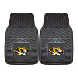 Fanmats - Fanmats University of Missouri 2-piece Vinyl Car Mats - Show off your love for the University of Missouri and protect your vehicle's flooring with this handy vinyl car mat from Fanmats. The mat is made from 100 percent vinyl and has a universal fit so it can be used in cars, trucks, SUVs and RVs.