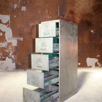European vintage industrial furniture - Industrial chest of drawers no. 19
