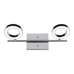 Alternating Current - Alternating Current AC1162 Halo 2 Light LED Bathroom Vanity Light - Features: