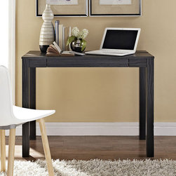 Dorel - Black Oak Altra Parsons-Style Flip-Up Desk - Revitalize your office space with this handsome desk that features a flip-up panel to prop computers, tablets or books for comfortable reading and working. The panel also easily lays flat for extra space, giving this piece a conveniently functional design.   38.98'' W x 29'' H x 20'' L Particleboard / paper laminate Assembly required Imported