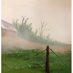 Beneath The Fog (Original) by John  Dunston - on my last trip to Virginia i was captured by the early morning misty fog scenery in the country area.
