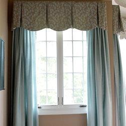 Custom Window Treatment by Dwell Chic Interiors -
