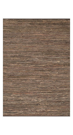 """Loloi Rugs - Loloi Rugs Edge Collection- Brown, 2'-3"""" x 3'-9"""" - Give your room an all-natural feel with the Edge Collection. These earthy rugs are hand woven in India of alternating strips of leather and jute for a unique tactile feel that your feet will love. Available in four neutral colors, ensuring a seamless addition to any decor."""