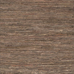 """Loloi Rugs - Loloi Rugs Edge Collection- Brown, 3'-6"""" x 5'-6"""" - Give your room an all-natural feel with the Edge Collection. These earthy rugs are hand woven in India of alternating strips of leather and jute for a unique tactile feel that your feet will love. Available in four neutral colors, ensuring a seamless addition to any decor."""