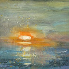Pacific Sunset By Carol Schiff (Original) By Carol Schiff - I live close to the sea and find it turns up often in both my representative and non representative works.