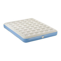 AeroBed - Aerobed Air Mattress (Twin) - Choose Size: Twin. From the leader in long-lasting, affordable air mattresses comes a cutting-edge, dependable performer. This Aerobed mattress has Quick Air Release Valve, coil construction and ultra-plush sleep surface. Customized comfort is available with two size options: Queen or Twin. Carry bag included. * Weight capacity: 450 lbs (twin), 750 lbs (queen). Powerful, plug-in pump provides an auto-on feature for hands-free inflation in less than 60 seconds. Deflates in 15 seconds with our exclusive Quick Air Release Valve. Top Quality Comfort and Construction. Coil construction adds extra support. Constructed of puncture-resistant, heavy-gauge, non-allergenic PVC vinyl. Inflates to a thickness of 8 inches. Plush, velvety soft sleep surface. Fits standard size sheets. Backed by a one-year limited express warranty Incredible Versatility. Rolls up and stores compactly in durable carry bag for easy transport and storage. Twin: 74 in. L x 39 in. W x 8 in. H. Queen: 74 in. L x 39 in. W x 9 in. H, 8.4 lbs