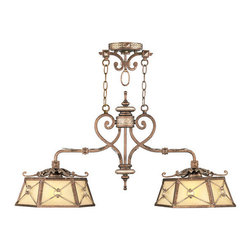 Livex Lighting - Livex Lighting 8832-64 Island - Glass Type/Shade Type: Gold Dusted Sculpted Art Glass