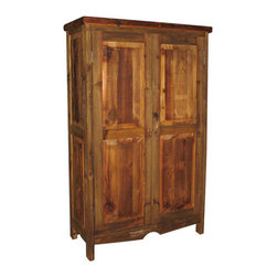 Mexican Artisans - Old Wood Pantry Cabinet - If you love to cook and entertain but are challenged by limited storage, this pantry has a place in your kitchen. Its ample size will keep you well-stocked, and its wonderfully weathered good looks bring rustic charm to your home.