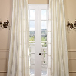 Pearl Textured Dupioni Silk Curtain - Dupioni silk has been around for centuries. The beautiful luster and sheen of this textured silk is timeless & will work in any décor. Whether your home is classic & traditional or modern & contemporary our Textured Dupioni Silk curtains will add color & beauty to any space.