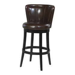 "Armen Living - Armen Living Lisbon 30"" High Brown Bycast Leather Swivel Bar Stool - Armen Living - Bar Stools - LCMBS11SWBABR30 - Reflecting the lifestyle and trends of today with an eye towards tomorrow the Armen Art Lisbon Counter Stool blends distinctive styling with a contemporary flair that will truly enhance your home bar or kitchen's look."