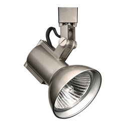 "WAC - Contemporary WAC Radiant 774 J Brushed Nickel Track Head for Juno - High-style line voltage luminaire. Brushed nickel finish. Die-cast aluminum construction. Takes one maximum 75 watt PAR30 bulb (not included). Screw and swivel yoke 350-degree horizontal rotation 90-degree vertical tilt. Fully enclosed back prevents light leaks. For use on Juno track lighting systems. 7 1/4"" high. 4 1/2"" wide.   High-style line voltage luminaire.  Brushed nickel finish.  Die-cast aluminum construction.  Takes one maximum 75 watt PAR30 bulb (not included).  Screw and swivel yoke 350-degree horizontal rotation 90-degree vertical tilt.  Fully enclosed back prevents light leaks.  For use on Juno track lighting systems.  7 1/4"" high.  4 1/2"" wide."