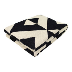 Modern Recycled Cotton Throw - We love the way pattern plays with contrast in this eco-friendly throw. Drape it over your armchair or lay it across the foot of your bed, but either way the Recycled Cotton Throw is great accent and an ideal snuggle buddy. Each blanket is made of 80% recycled cotton, which means you're helping reduce energy consumption and landfill use. Machine washable