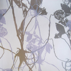 Sleeping Briar Rose Wallpaper, Lavender Grove