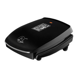 George Foreman - George Foreman GR20B Black Contact Grill - Get nutritious cooking in a compact design with this four-serving, George Foreman contact grill. The 60 square-inch cooking surface is perfect for 3-4 servings and includes all of the features you've come to expect from George Foreman.