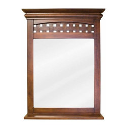 Elements - Bath Elements Lyn 26 X 34 1/4 Nutmeg Mirror - Bath Elements Lyn 26 X 34 1/4 Nutmeg Mirror