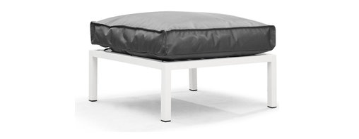Zuo Modern - Copacabana Ottoman Light Gray - The Copacabana collection is designed for funky versatility. This set has modular pieces of an armless chair, a corner armchair, an ottoman, and a table. The cover is made from a completely waterproof and UV resistant polyester fiber. The frame is made from an epoxy coated aluminum. The fill is 100% pure polystyrene beads. All the cushions can be attached via durable oversize zipper. Have fun with the cushions and throw them in the pool...they will float!