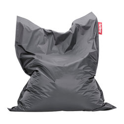 Fatboy USA - Fatboy Original Beanbag Chair, Dark Grey - Our iconic Fatboy the original is everyone's friend. It has proven it can stand out and fit in anywhere! With its generous size and energizing comfort it is always there to maximize whatever comfort you choose. Fatboy the original is truly yours! Measures 55 inches wide by 70 inches long.