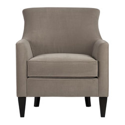 Clara Chair - This chair looks so soft and luxurious. Even with a neutral color, it calls attention to itself.