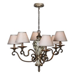 Uttermost - Malawi 6-Light Chandelier - If you're not able to take in the sunset over the Serengeti, illuminate this beautiful chandelier every evening and bask in its warm glow instead. The stunning, cheetah-print-inspired center only adds to your brilliant overhead view.