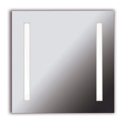 Kenroy Home - Kenroy 90830 Rifletta 2 Light Vanity Mirror - Lights and a mirror in one, Rifletta sits flush with just a 2 inch extension from the wall offering maximum surface in minimal space.  Contemporary and brilliantly lit, this functional design element is available in 3 sleek configurations.