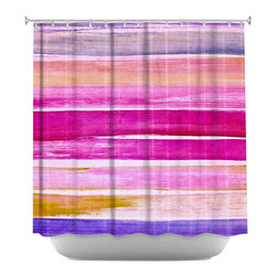 DiaNoche Designs - Shower Curtain Artistic - Colour Play VI - DiaNoche Designs works with artists from around the world to bring unique, artistic products to decorate all aspects of your home.  Our designer Shower Curtains will be the talk of every guest to visit your bathroom!  Our Shower Curtains have Sewn reinforced holes for curtain rings, Shower Curtain Rings Not Included.  Dye Sublimation printing adheres the ink to the material for long life and durability. Machine Wash upon arrival for maximum softness on cold and dry low.  Printed in USA.