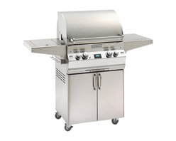"""Fire Magic - Aurora A430s2L1N62 Stand Alone NG Grill with Single Side Burner - A430 Stand Alone Grill with Rotisserie Backburner & Factory Installed Left Side Infrared BurnerA430s Features: Cast stainless steel """"E"""" burners - guaranteed for life"""