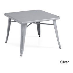 None - Kids Tabouret Steel Table - Featuring a classic tabouret style with a charming industrial-chic construction,this solid steel table features a petite size designed for children. Available in several finish options,bring style and function to your decor with this kids square table.