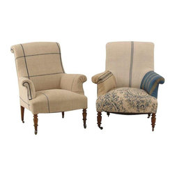 French Antique Armchairs - A Pair - $6,500 Est. Retail - $3,800 on Chairish.com -