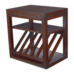 Hammary - Hammary T00279-00 Chairsides Rectangular Chairside Table w/ Cup Holder in Kanson - Chairside table with cup holder belongs to Chairsides collection by Hammary enjoy the best of style without sacrificing the best in functionality. That's exactly what you'll receive when you select from Hammary's assortment of extraordinary chairside tables - the perfect complement in any living area. Our chairside choices are practically endless - from traditional to contemporary designs and featuring a broad spectrum of finishes and numerous display and storage options. Hammary chairsides are constructed from quality hardwoods and select wood products. Finishes range from black to handsome cherry, maple and oak-colored tones. Best of all, our chairsides feature a variety of display shelves, drawers, pull-out laminated trays, magazine racks and even iPod storage. Go home, relax in your favorite chair and enjoy convenient, ample storage right by your side. Hammary chairsides provide an easy reach for your coffee cup, favorite magazines and even the remote control. They are flawlessly accommodating and exceptionally easy to enjoy. You'll wonder what you did without one!