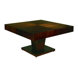 Allan Copley Designs - Sarasota Square Dining Table - Features: -Sarasota collection. -Finish: Walnut stain on walnut. -Thick aprons add to visual appeal. -Tapered pedestal base adds strength and visual design. -1 Year warranty.