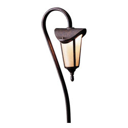 Kichler Lighting - Kichler Low Voltage Path Light - 15313TZG - This low voltage path light features a tanner bronze finish and textured amber seedy linen glass diffuser. It includes a quick disc connector and an 8-inch ground stake. Takes (1) 16.25-watt incandescent S8 bulb(s). Bulb(s) included. UL listed. Dry location rated.