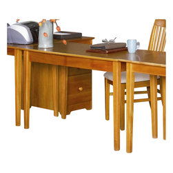 Atlantic Furniture - Atlantic Furniture Shaker Work Table in Caramel Latte - Atlantic Furniture - Work Table - AH11107 - The perfect size for any office the Shaker Work Table gets the job done by itself or with help from a Printer Stand or Writing Table.