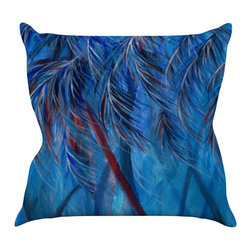 "Kess InHouse - Rosie Brown ""Red White Tropical"" Throw Pillow (26"" x 26"") - Rest among the art you love. Transform your hang out room into a hip gallery, that's also comfortable. With this pillow you can create an environment that reflects your unique style. It's amazing what a throw pillow can do to complete a room. (Kess InHouse is not responsible for pillow fighting that may occur as the result of creative stimulation)."