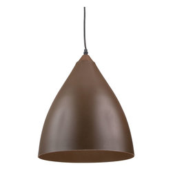 Matte Pendant in Brown - This pendant light adds a touch of modern sophistication wherever it hangs. We love the idea of hanging several of these pendants above your kitchen island or going solo above your breakfast table, in your foyer, or office.
