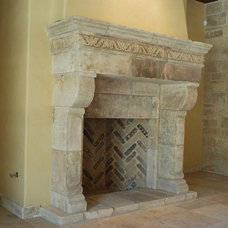 Mediterranean Indoor Fireplaces by Ancient Surfaces