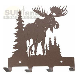 Northern Territory Moose Metal Wall Hook, Rust - Even though my son is only in preschool, he already has a backpack, which usually gets dumped on the floor. This darling moose hook would be perfect for encouraging him to hang up his coat and backpack when he gets home from school.