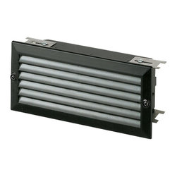 Sea Gull Lighting - Sea Gull Lighting 9241-12 Louver Trim for Recessed Brick Light - Wet location 12 volt lighting system is designed to provide safe, functional, easy to install illumination. The low profile design allows it to fit into virtually any application.